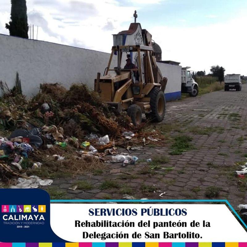 Rehabilitación del panteón de San Bartolito.